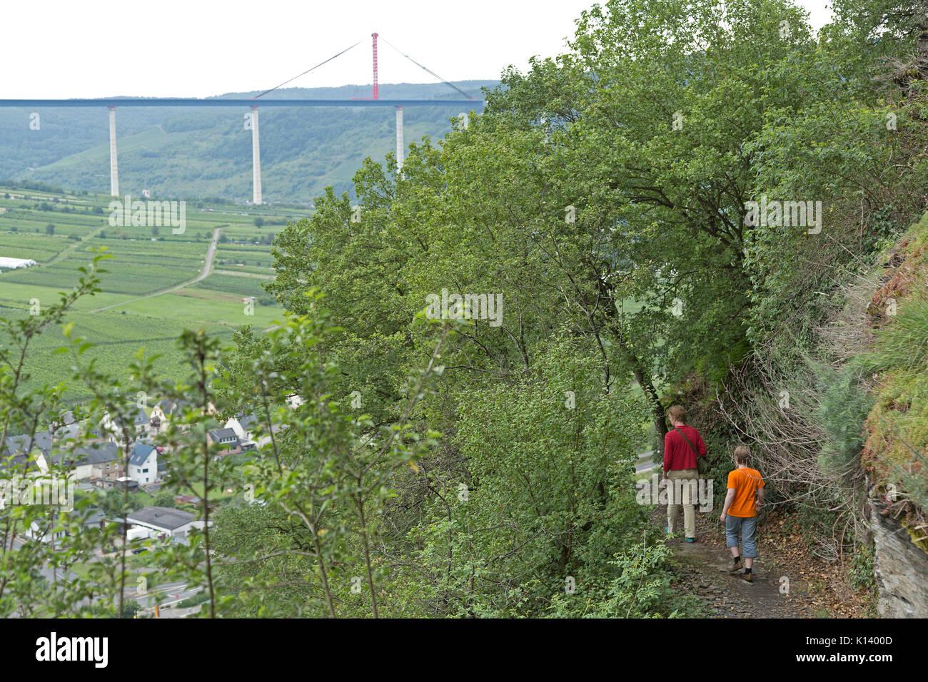Klettersteig Pfalz : Mutter und sohn auf klettersteig uerzig mosel rheinland pfalz