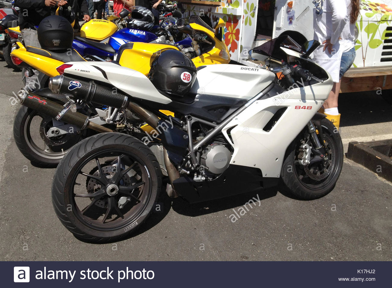 On A Ducati Stockfotos & On A Ducati Bilder - Alamy