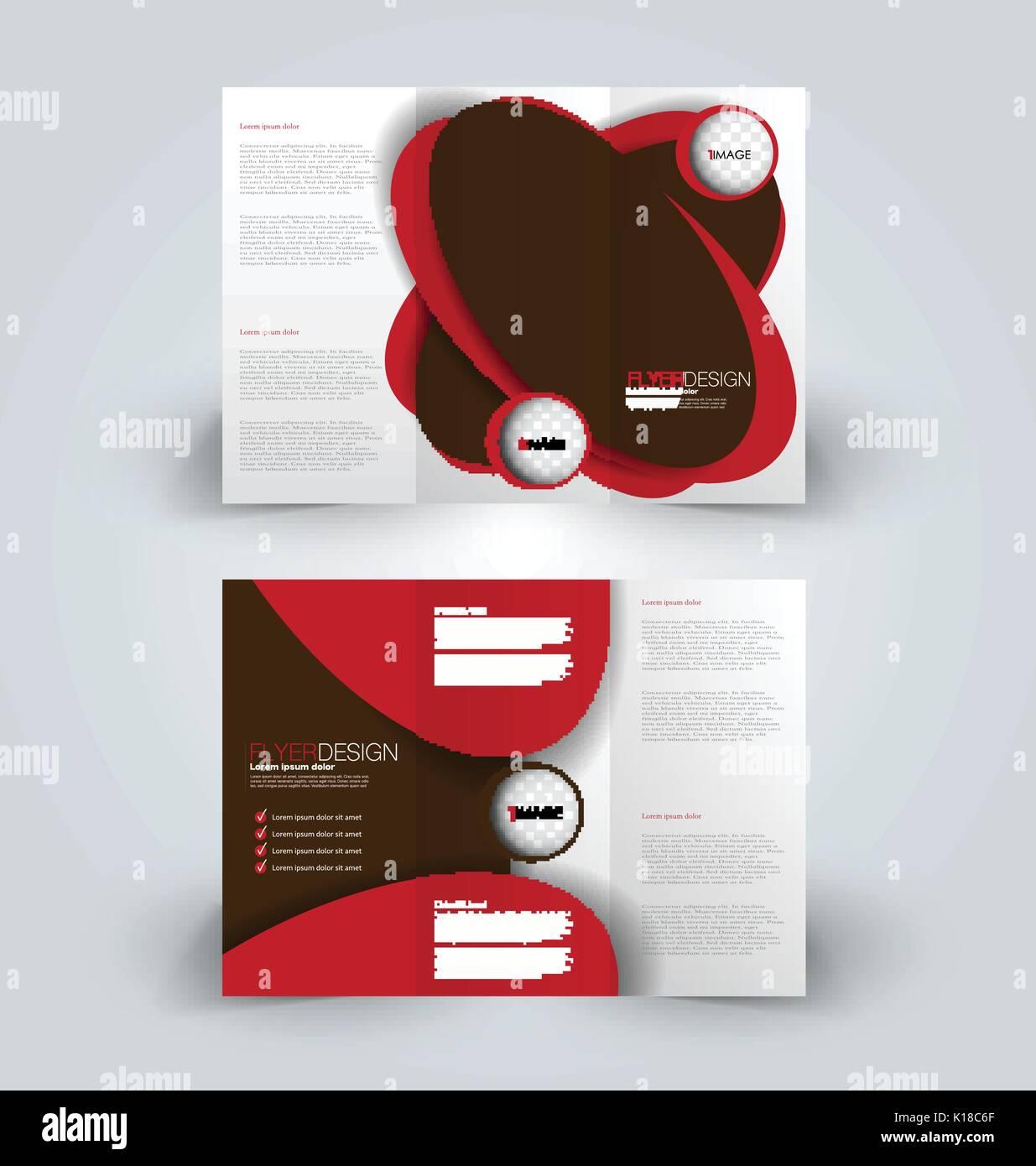 Für Broschüren, dreifach gefaltet Design Template für Business ...