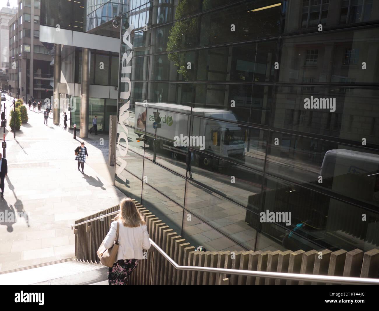 Nomura Büros London japanischen Finanzholding. Stockbild