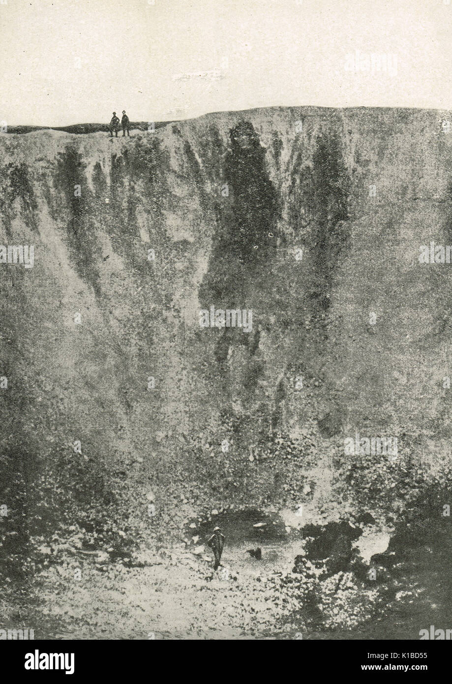 Lochnagar mine Krater, Somme offensive Stockfoto