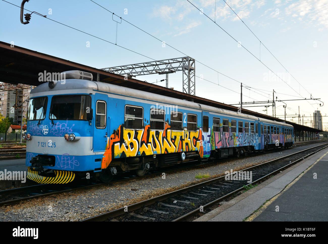 Zagreb Kroatien 14 Juli 2017 Zug In Die Zagreb Glavni Kolodvor Der Hauptbahnhof In Zagreb City Der Hauptstadt Von Kroatien Stockfotografie Alamy