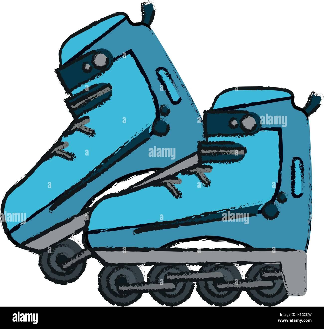 Inline Skates Vector Illustration Vektor Abbildung Bild 155814285