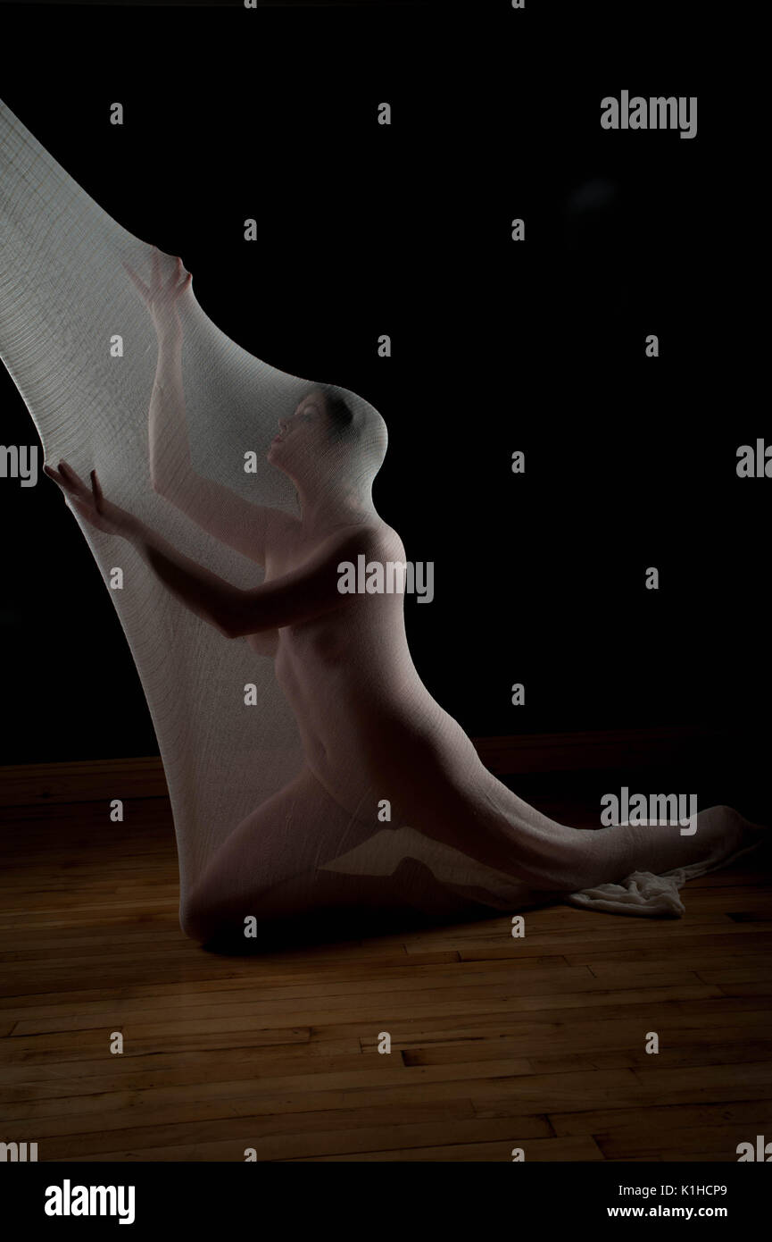 Mode, Schönheit und Kunst Model Studio Fotografie Stockbild