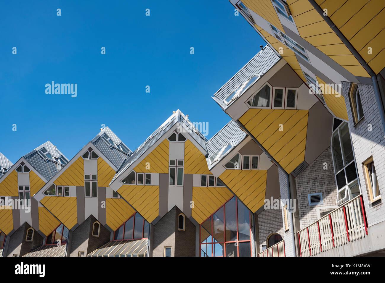 Cube, cube Architektur, Architekten Piet Blom, Blaak, Rotterdam, Holland, Niederlande Stockbild