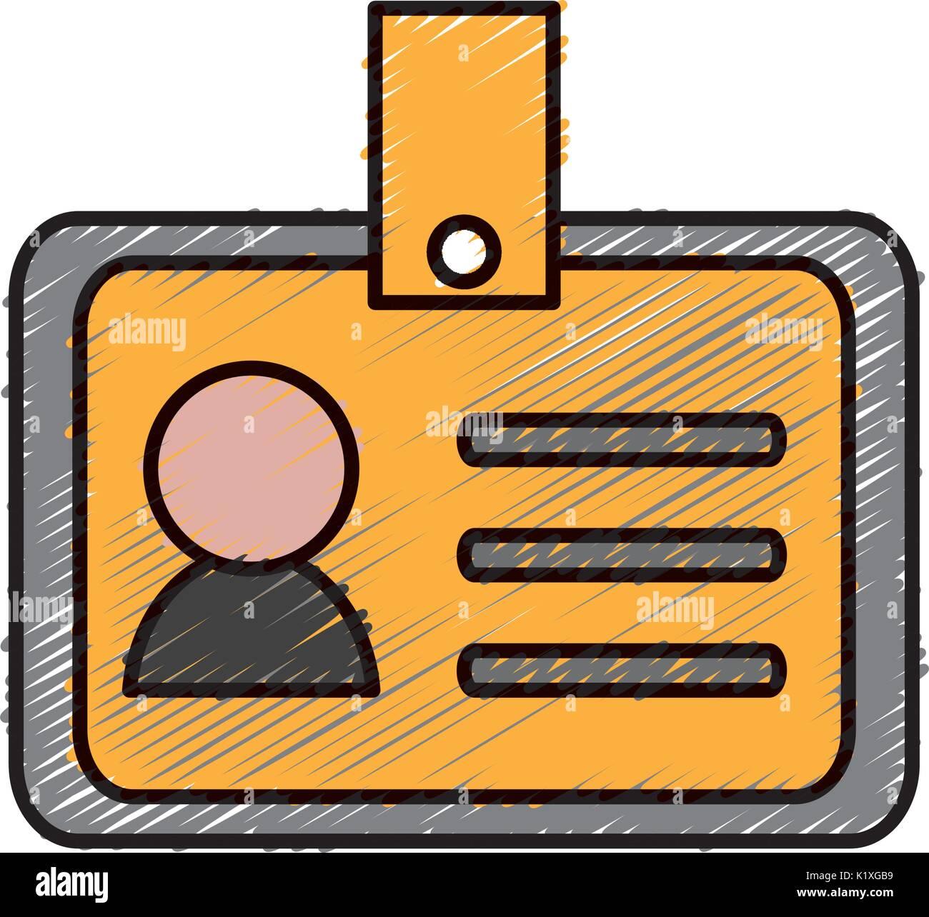 Id card Corporate persönliche Identität icon Stockbild