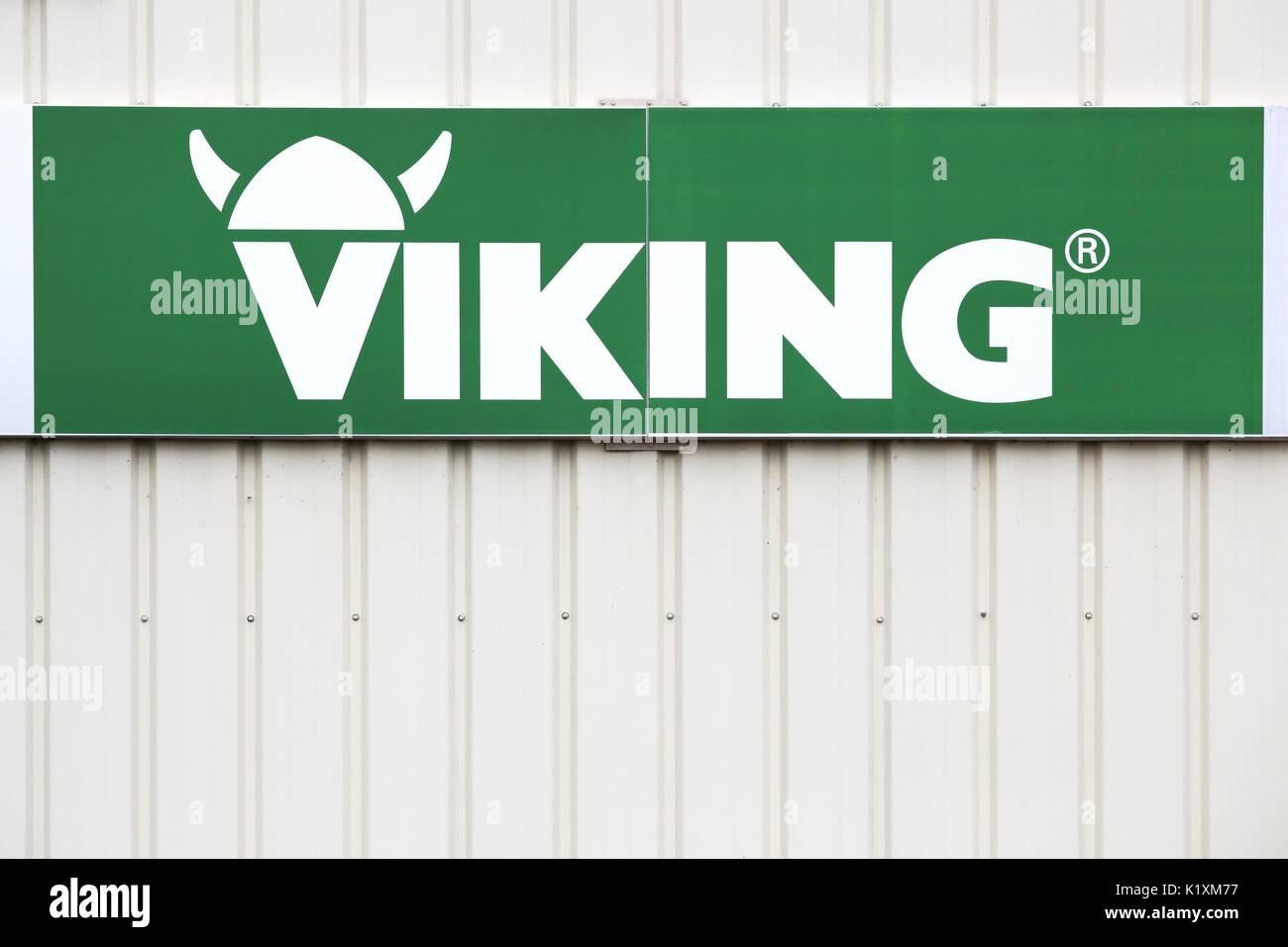 saint nazaire en royans, frankreich - 23. juni 2017: viking logo auf