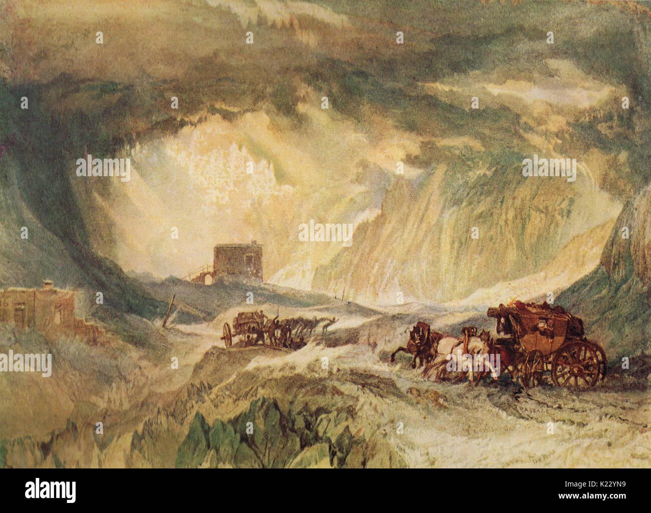 Passage des Mont Cennis von J M W Turner, 1820 Stockbild