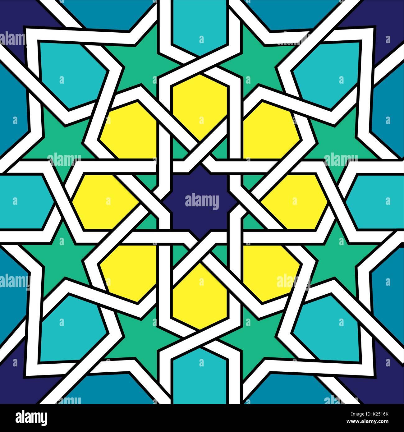 Marokkanische fliesen Design, maurischen nahtlose Vektor Muster ...