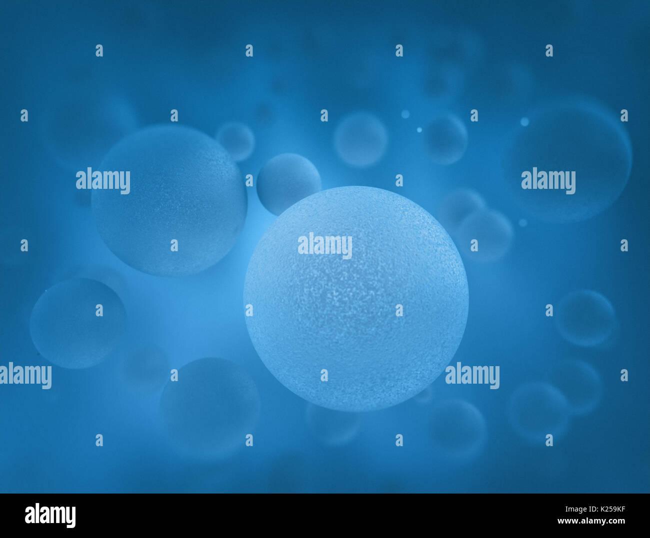 Menschliche Zellen in Blau. Wissenschaft und medizinischen ...