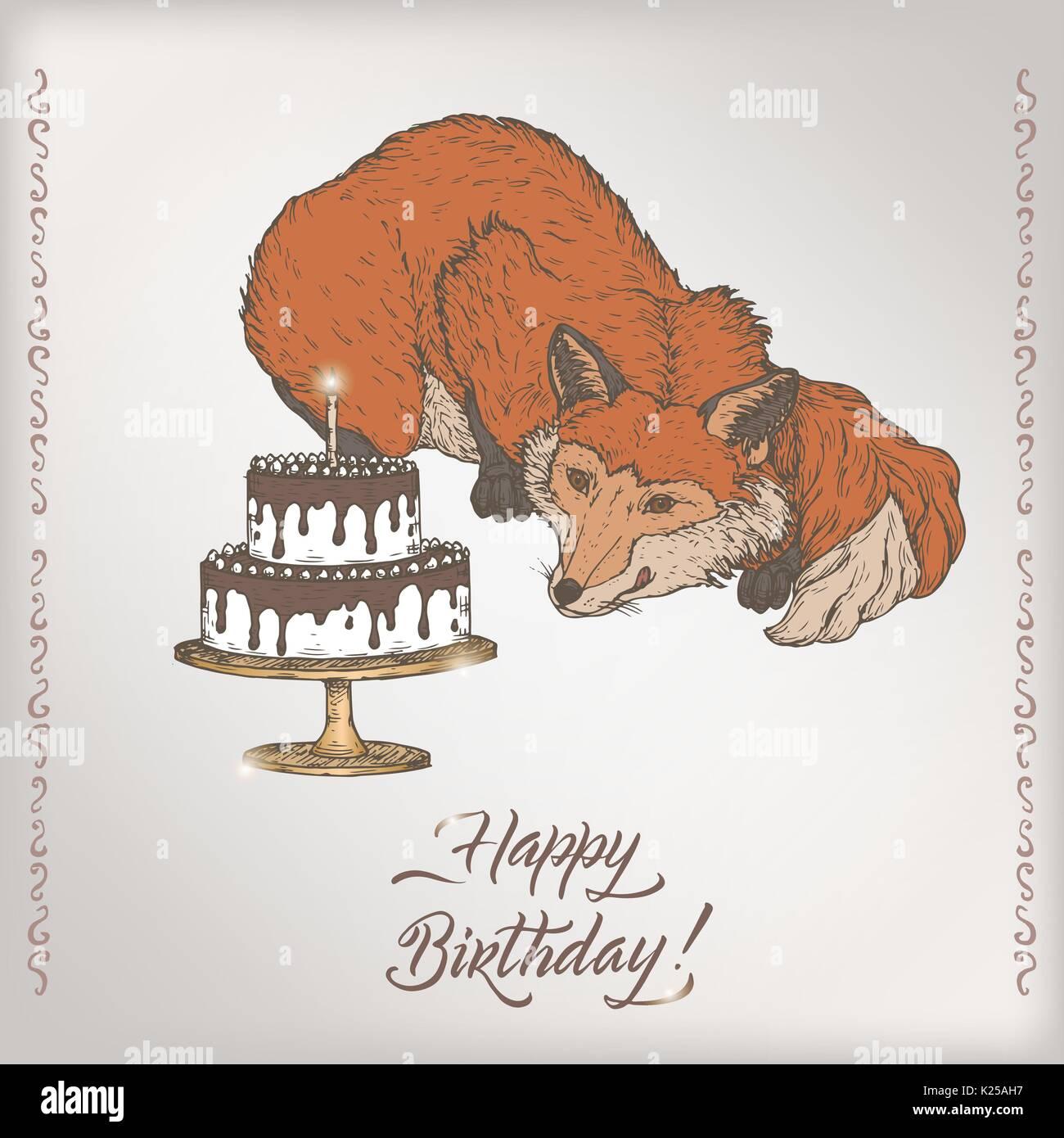 Wunderbar Farbe In Geburtstagskarten Bilder - Malvorlagen Von Tieren ...