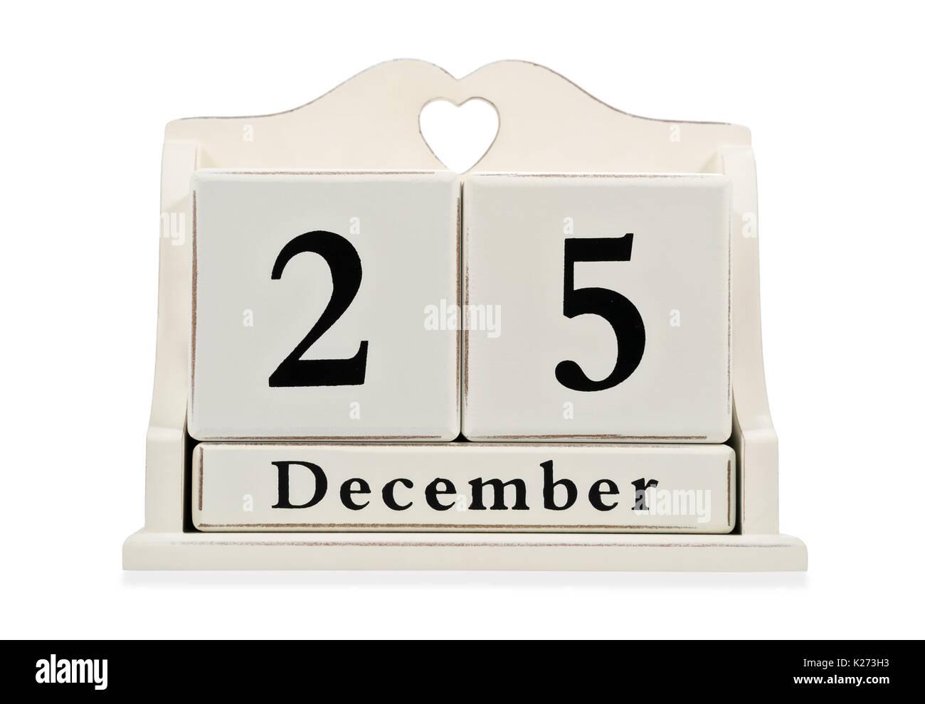 Weihnachten Datum.Dekorative Kalender Mit Weihnachten Datum Stockfoto Bild 156279119