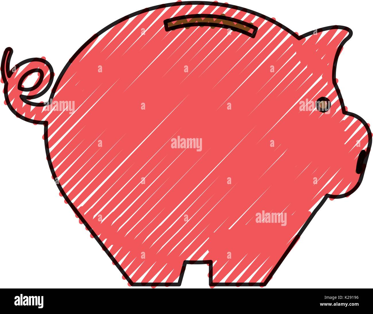 Piggy Geld sparen Stockbild