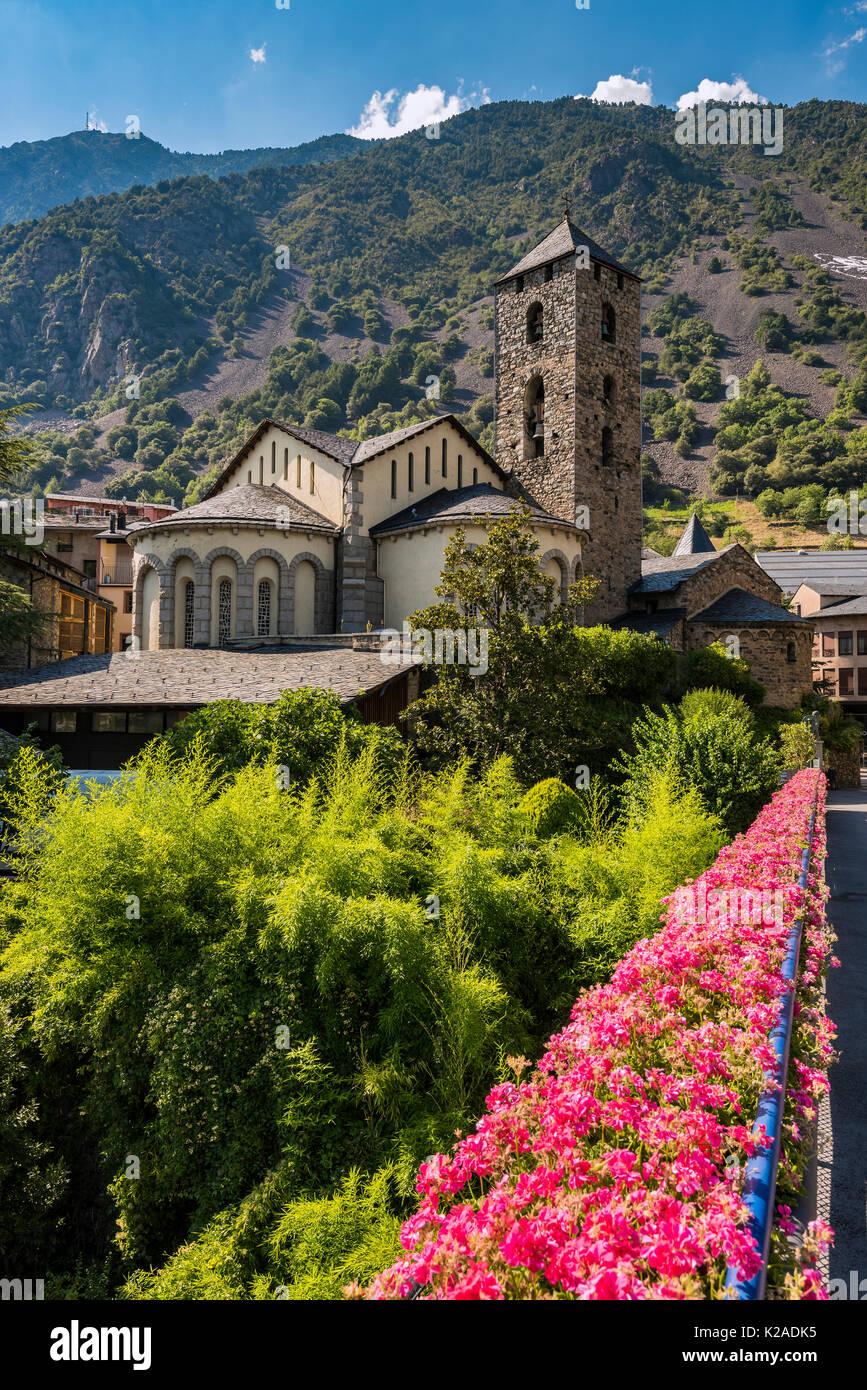 Esglesia de Kirche Sant Esteve, Andorra la Vella, Andorra Stockbild