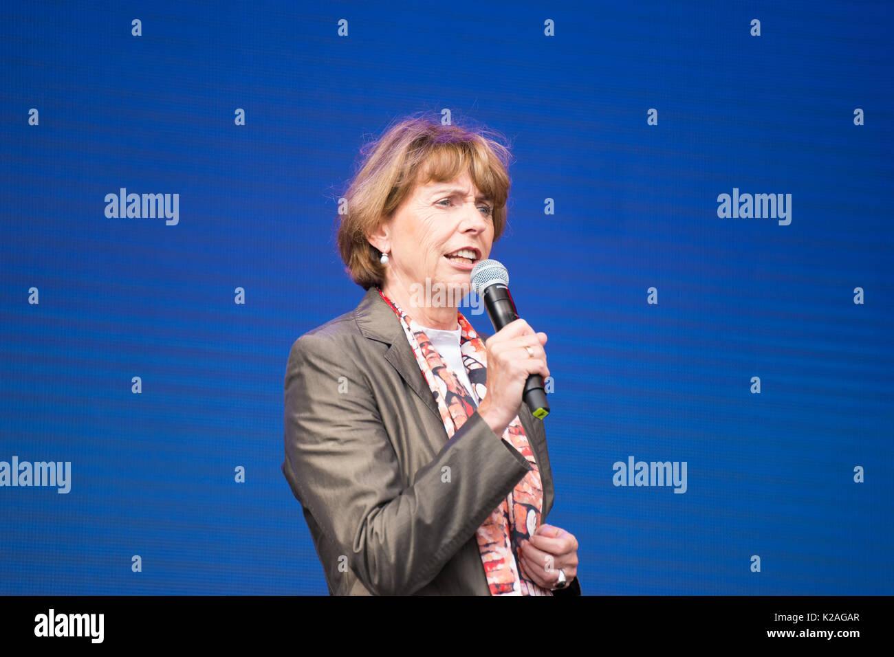 Frau Henriette Rädeker, Oberbürgermeister der Stadt Köln, an der China Festival 2017 in Köln, Deutschland. Stockbild
