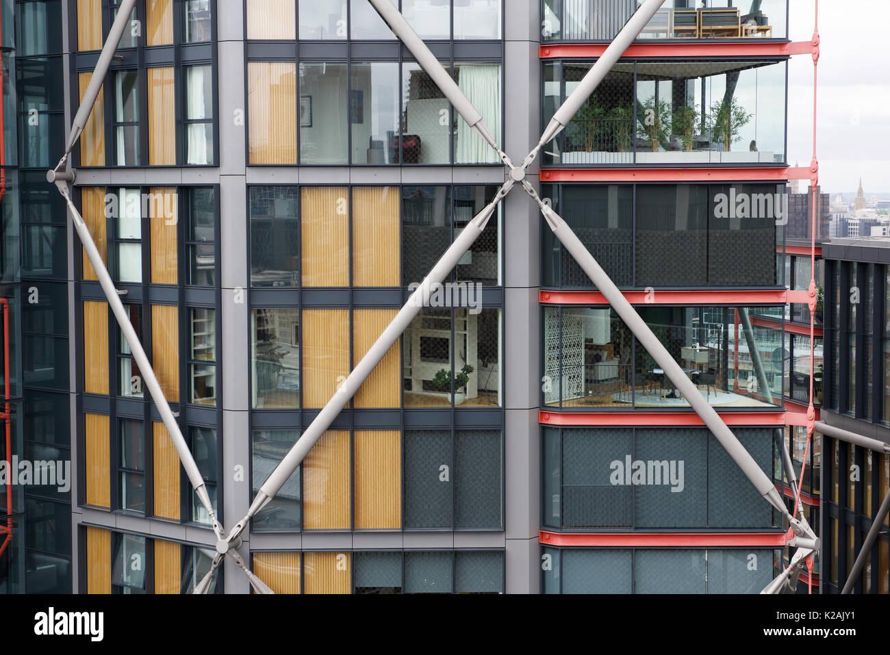Modernes Hochhaus wohnen in Apartments in London Stockfoto, Bild ...