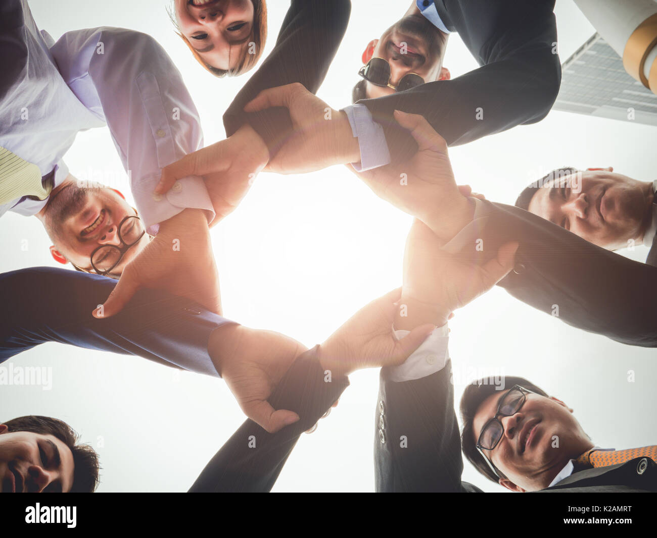 Teamwork Gruppe von verschiedenen Unternehmen Personen Konzept Stockbild