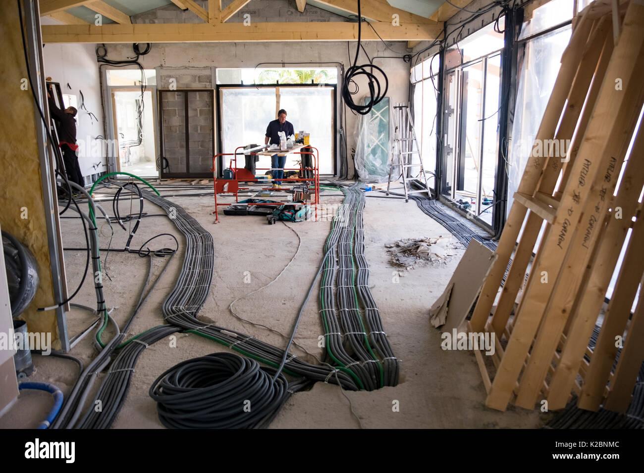 Layout der elektrischen Verkabelung in den Bau eines neuen Hauses in ...