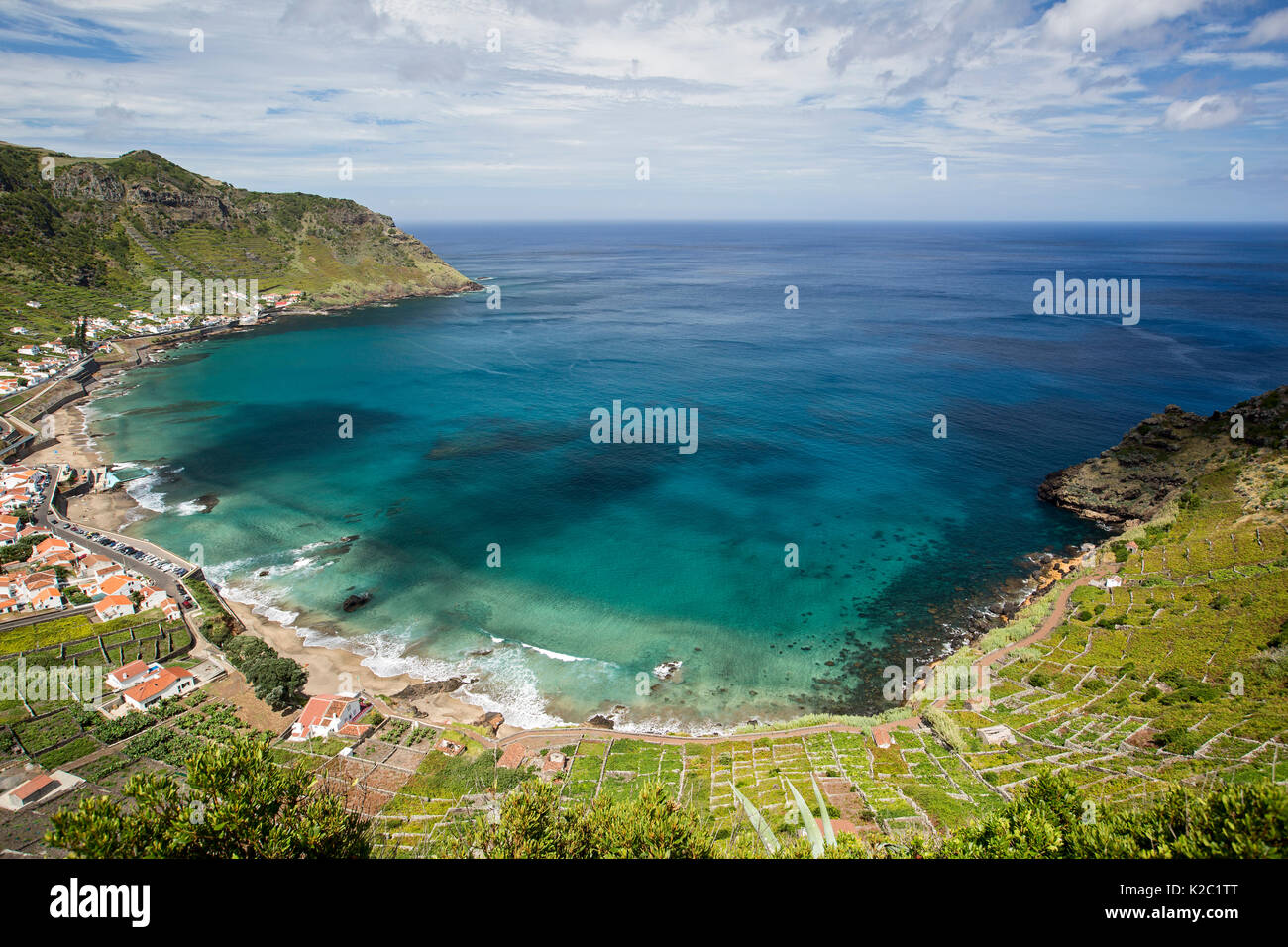 Sao Lourenco Bucht Strand Im Nordosten Der Insel Santa Maria