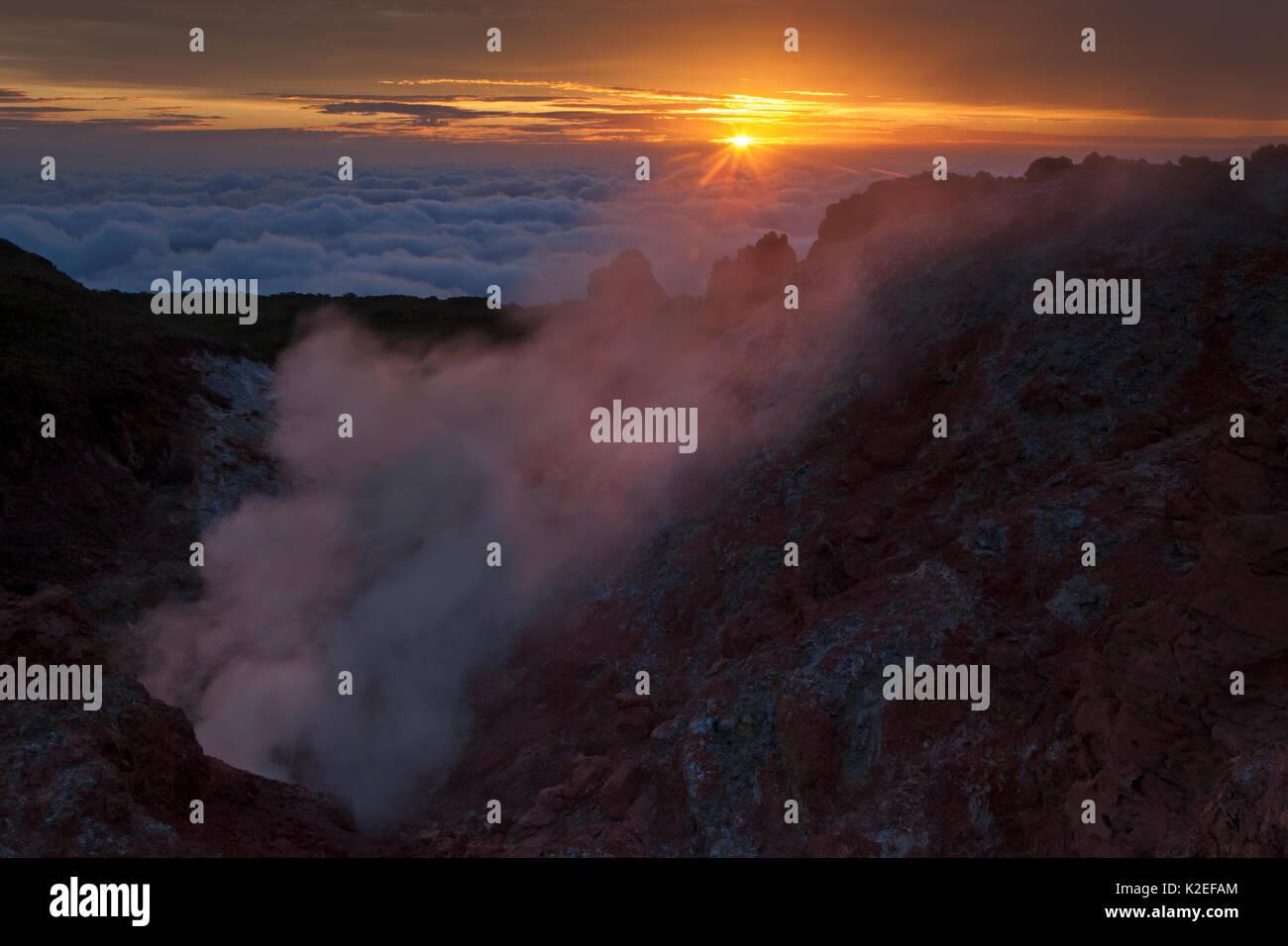Fumarole, Socorro Island, Revillagigedo Archipel Biosphärenreservat/Inselgruppe de Revillagigedo UNESCO Weltnaturerbe Stockfoto