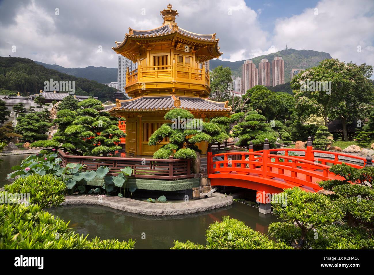 Tempel der Absolute Perfektion in Hongkong Stockbild
