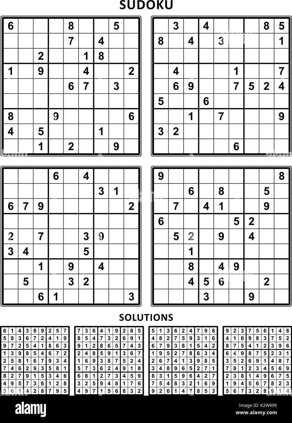vier sudoku r tsel der komfortablen leicht aber nicht sehr einfach geeignet f r gro e b cher. Black Bedroom Furniture Sets. Home Design Ideas