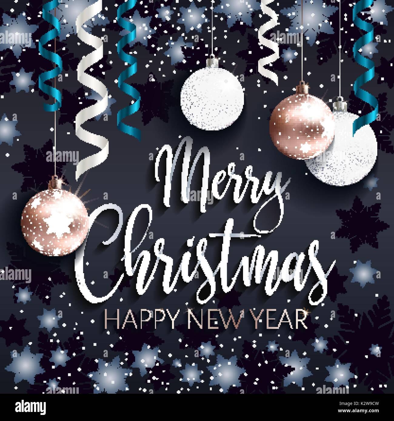 Frohe Weihnachten Grüße.Festliche Schwarze Banner Frohe Weihnachten Gruß Vektor Abbildung