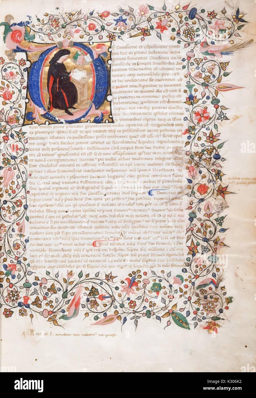 Eine Illuminierte Handschrift Auf Pergament In Italien Geschrieben