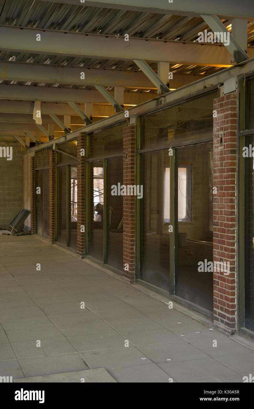 Äußere Aufnahme der Bau von Brody Learning Commons (BLC), eine gemeinschaftliche Studie Raum und Bibliothek auf dem Homewood Campus der Johns Hopkins University in Baltimore, Maryland, 2011. Stockbild