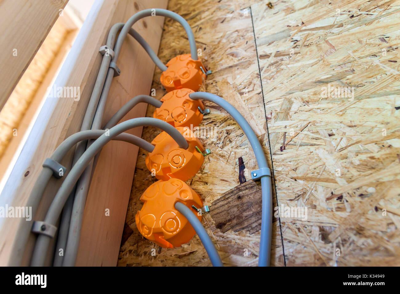 Old Industrial Electrical Installation On Stockfotos & Old ...