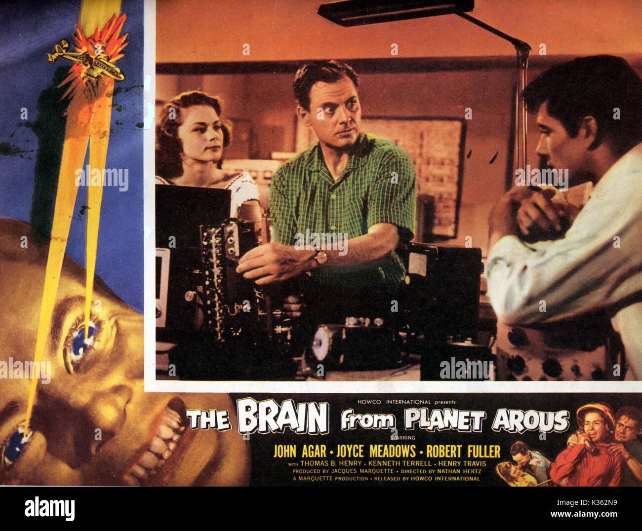 Das GEHIRN VOM PLANETEN AROUS 1950er B-Movies Poster Poster VON DER RONALD GRANT ARCHIV FILM VON MARQUETTE PRODUCTIONS Stockbild