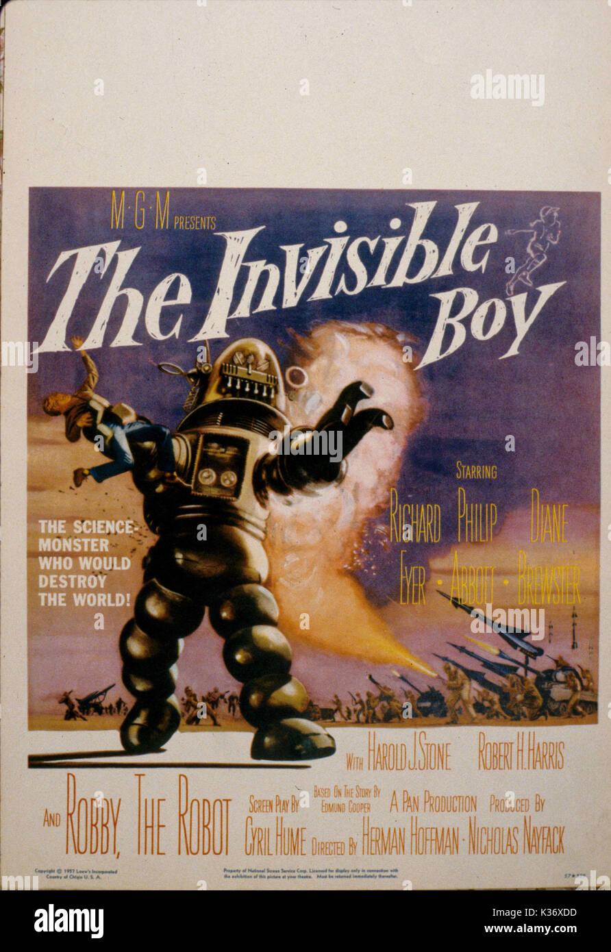 Der unsichtbare Junge aka S.O.S. Raumschiff der 50er Jahre B-Movies Poster Poster VON DER RONALD GRANT ARCHIV FILM Stockbild
