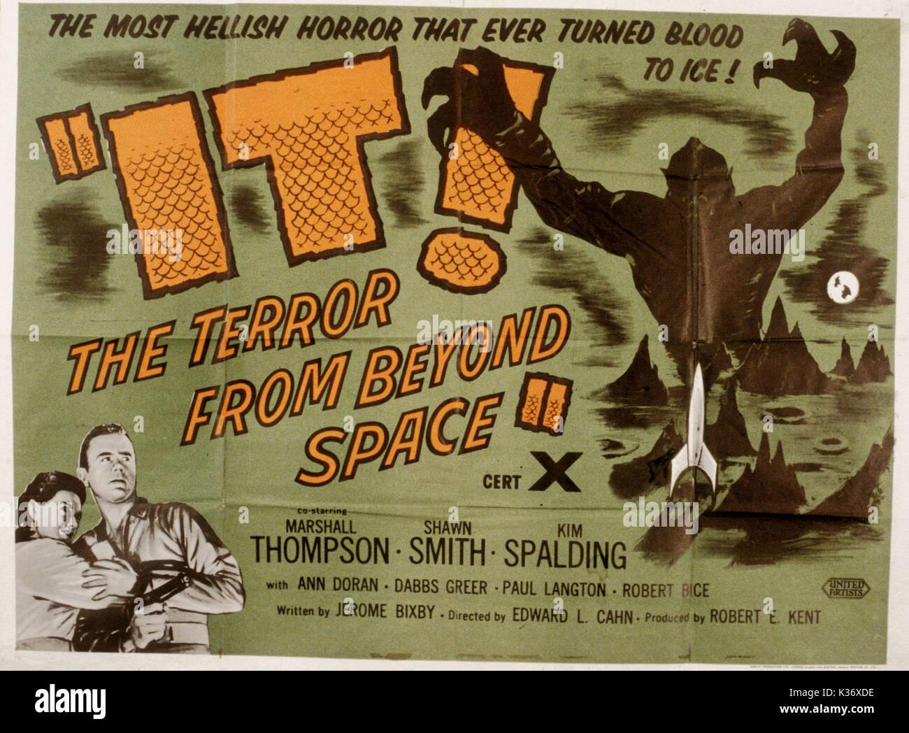 Es! Der Terror von jenseits von Raum aka! Der Vampir von jenseits von Raum 1950 B-Movies Poster Poster VON DER RONALD Stockbild
