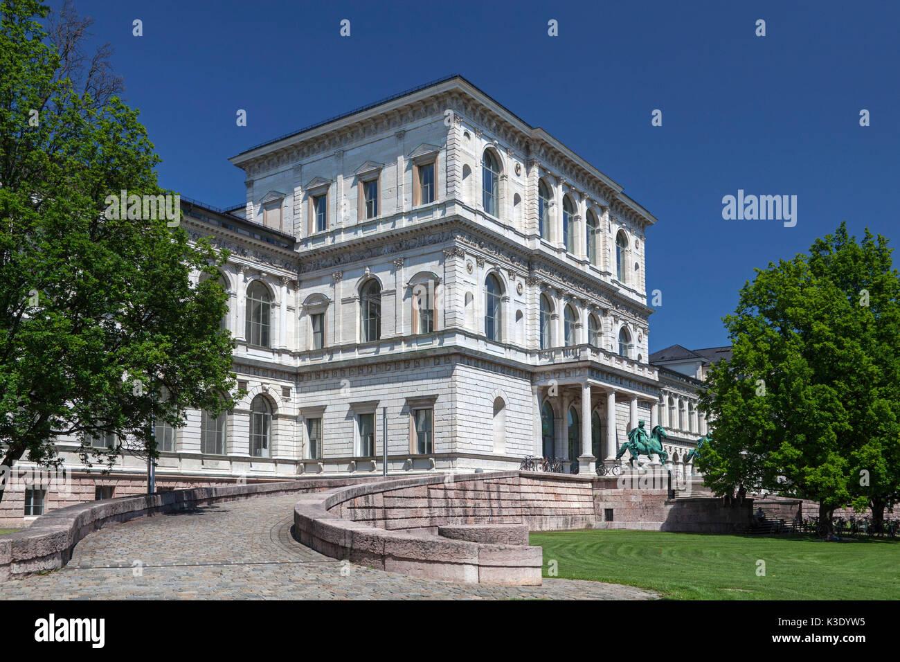 Alte Gebäude Akademie der graphischen Künste, München, Oberbayern, Bayern, Deutschland, Stockbild
