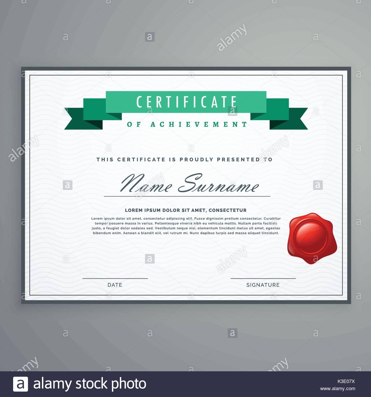 Sauber Zertifikat Design Template award Diplom Hintergrund Vektor ...