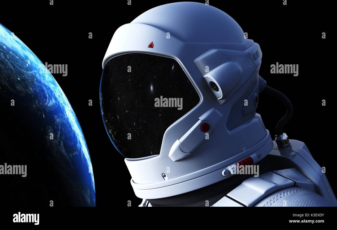 In outer space Spaceman. 3D-Darstellung. Elemente dieses Bild von der NASA eingerichtet Stockbild