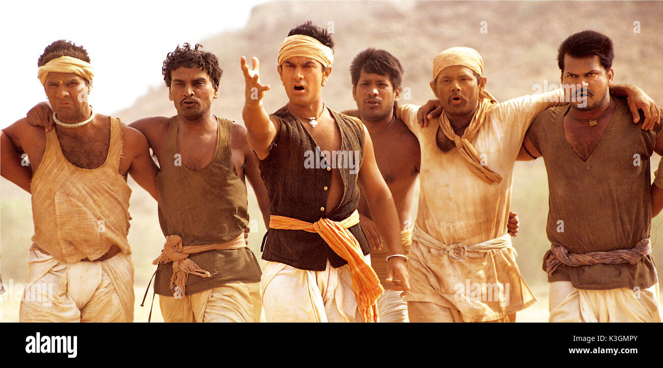 Lagaan Once Upon A Time In India Aamir Khan Datum 2001 Stockfoto