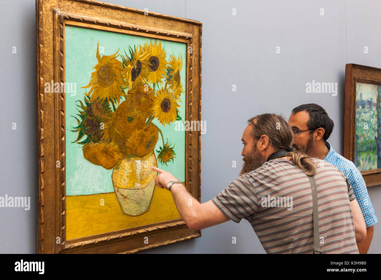 Vincent Van Gogh Die Sonnenblumen Malt Stockfotos Vincent Van
