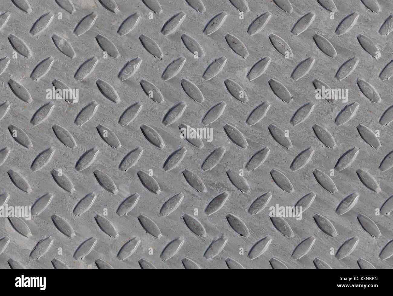 Texture wrap around Rautenmuster Rutschfeste graue nahtlose Hintergrund Stockbild