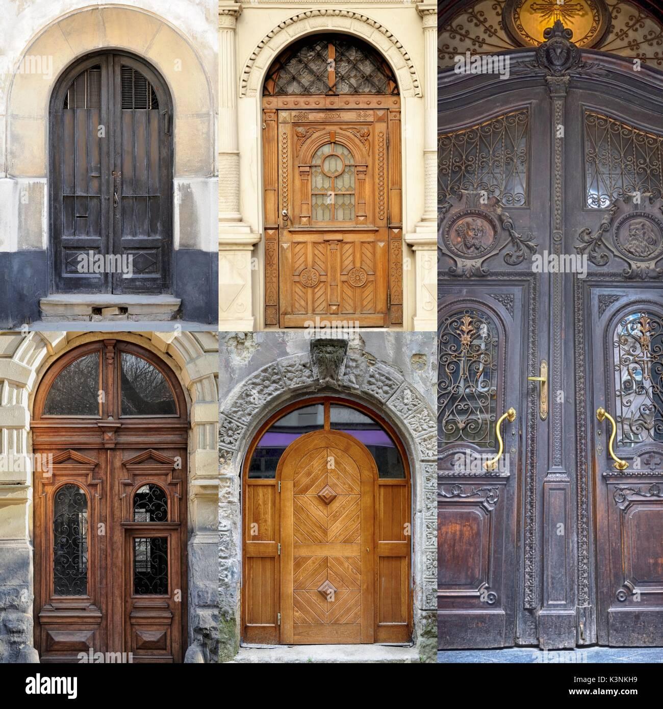 vordertüren ein foto collage vordertüren häuser und wohnungen stockfoto bild