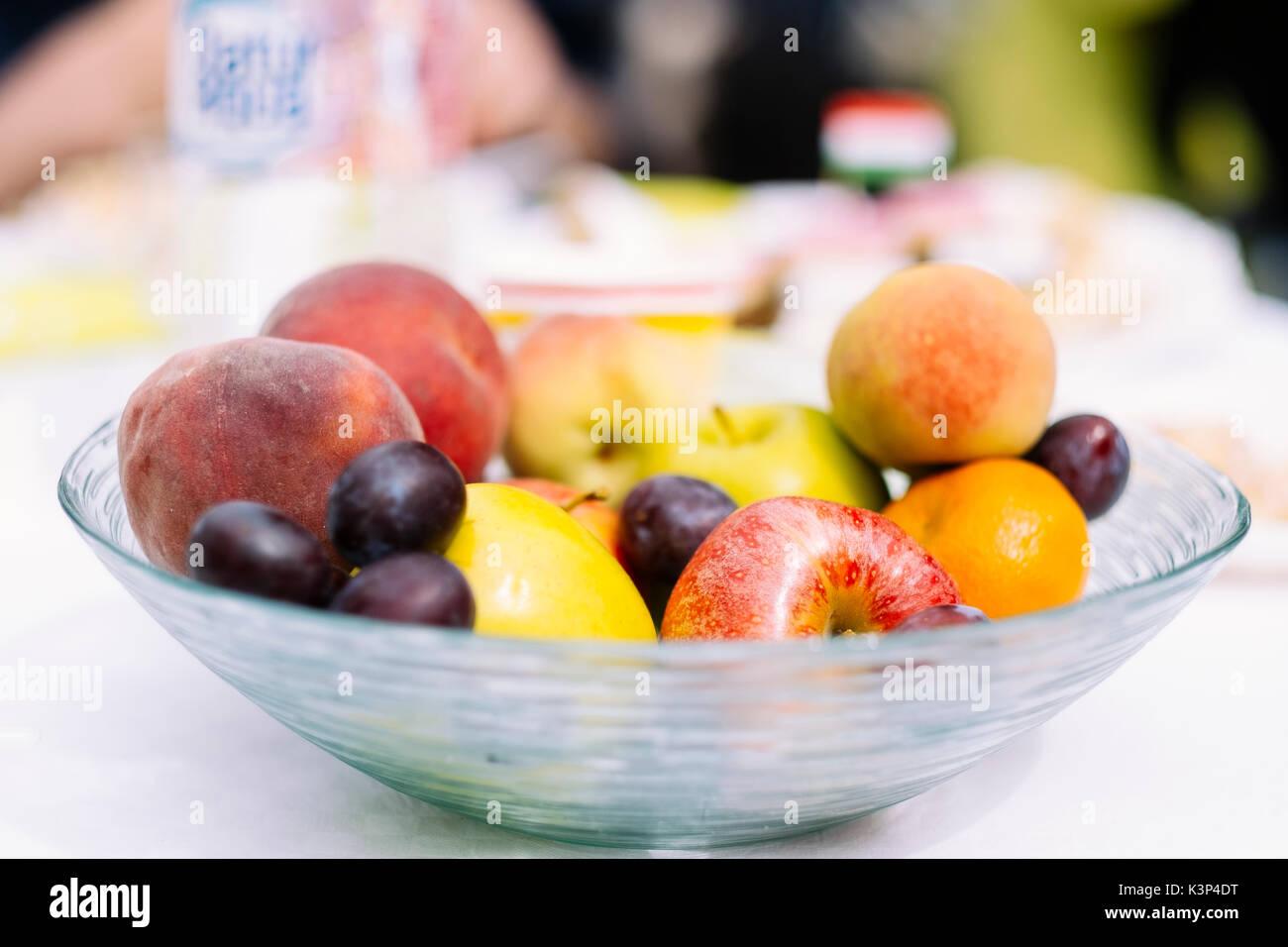 Gesund im Herbst Früchte Stockfoto