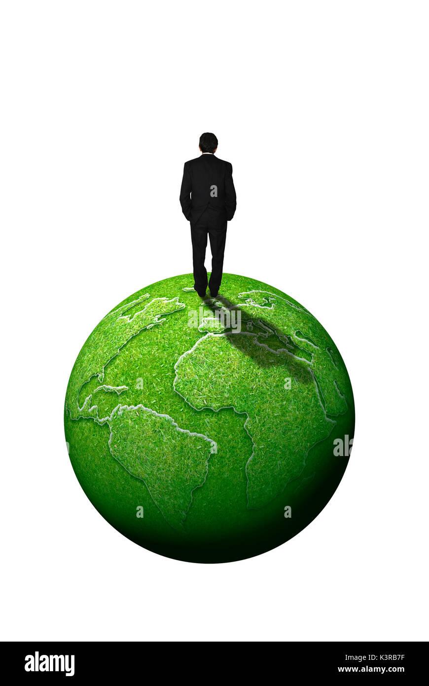 Nachhaltige Wirtschaft und corporate social responsibility Konzept Stockbild