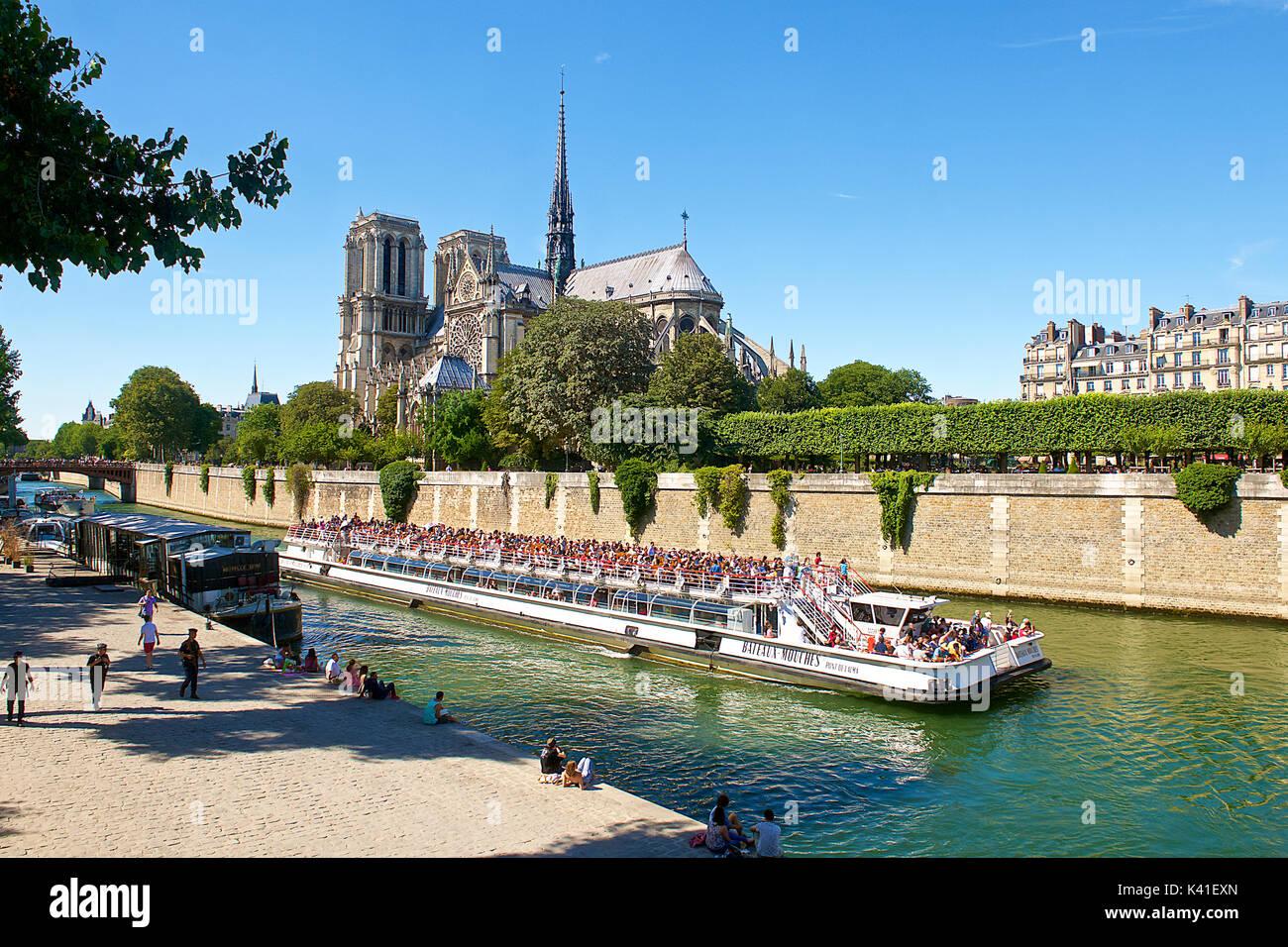 Kathedrale Notre Dame, Paris, Frankreich Stockbild