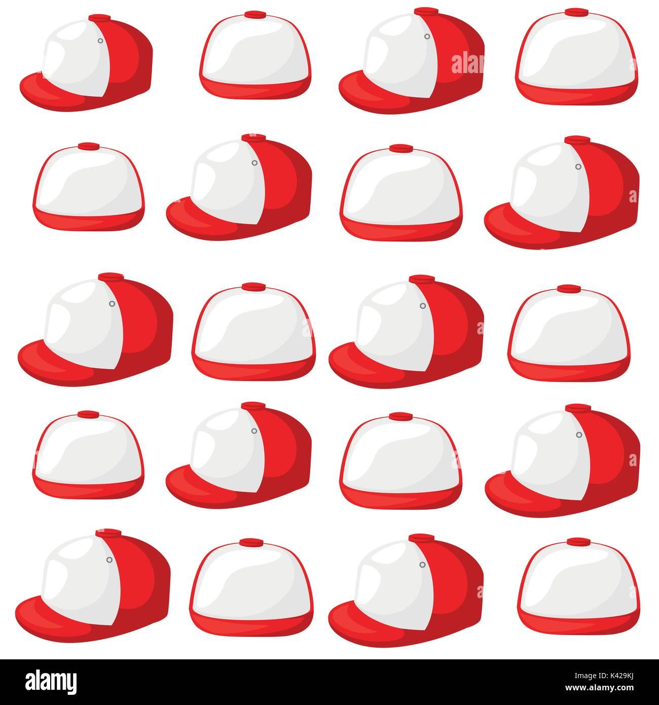 Baseball Cap schwarz-weiße Vorlagen, front, side, back Ansichten ...