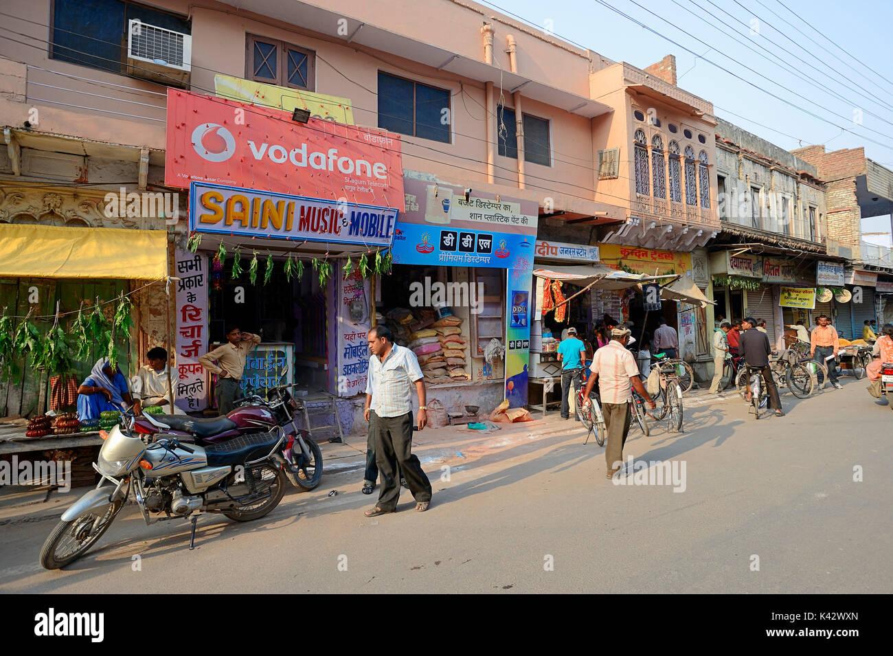 Geschäfte, Bharatpur, Rajasthan, Indien | Geschaefte, Bharatpur, Rajasthan, Indien Stockbild