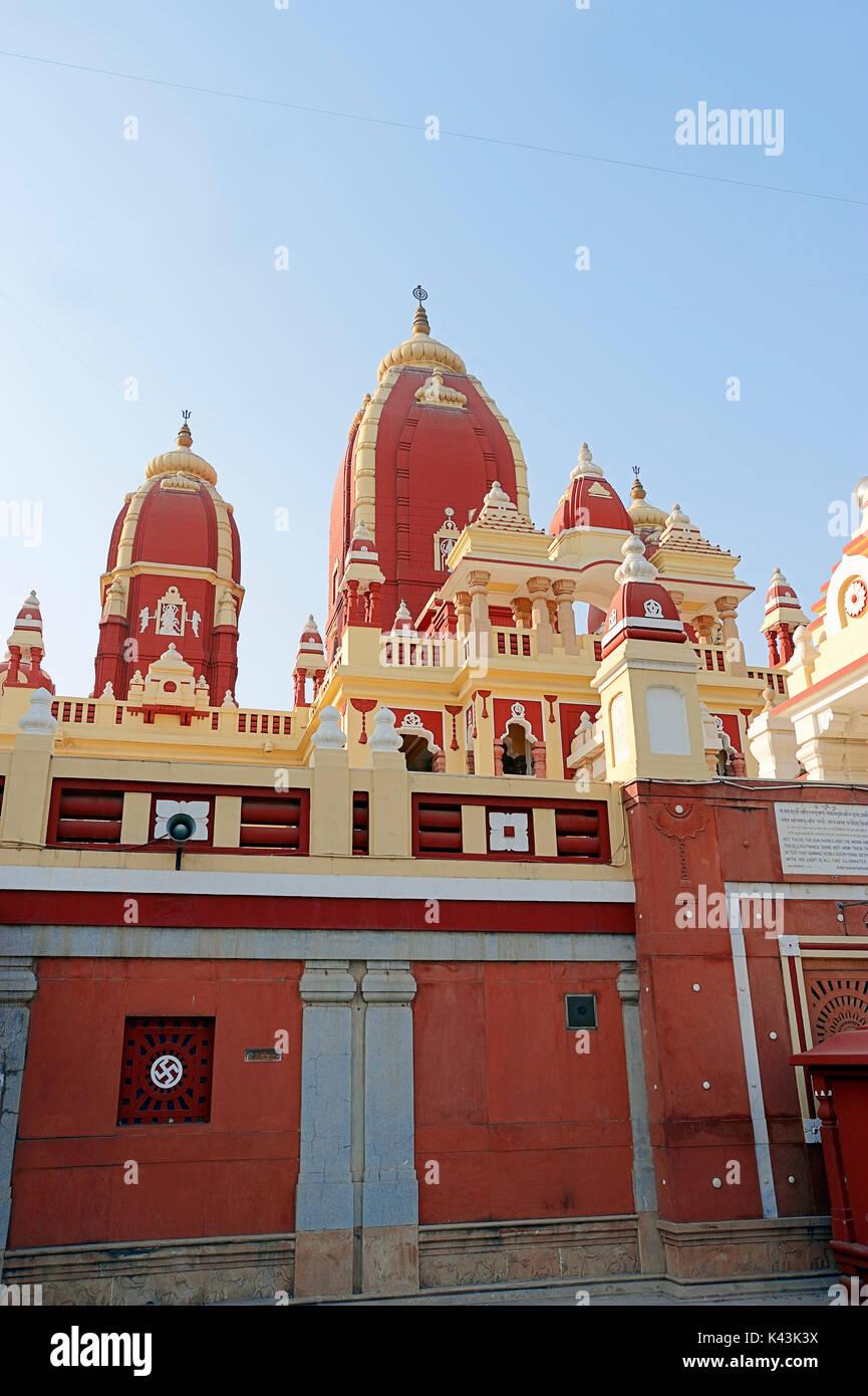 Lakshmi Narayan Tempel, Neu Delhi, Indien | Lakshmi Narayan Tempel, Neu-Delhi, Indien Stockbild