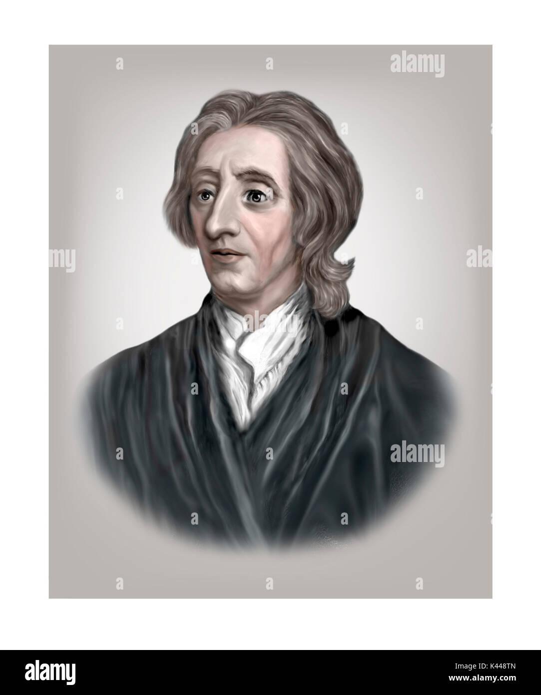 John Locke, 1632 - 1704, englischer Philosoph, Arzt Stockbild