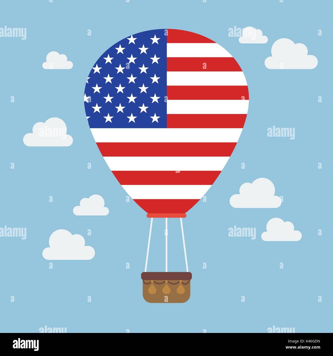 Hot Air Balloon Vector Vectors Stockfotos & Hot Air Balloon Vector ...