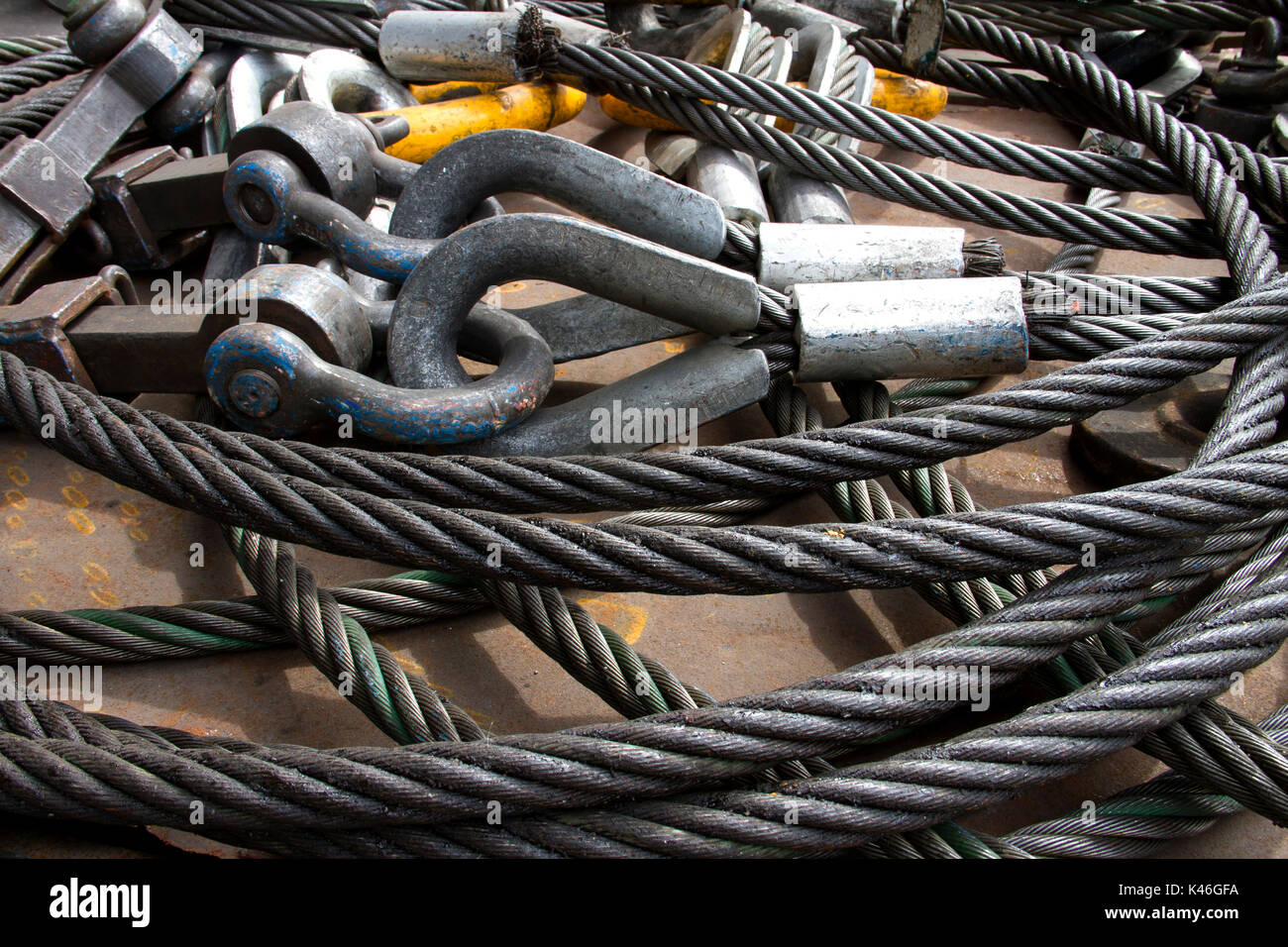 Heavy Duty Stahldrahtseil Schlinge mit Sicherheit Anker Schraube des ...