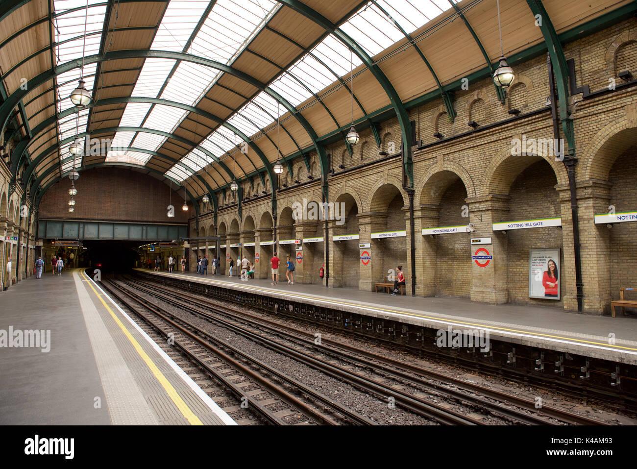 Notting Hill Gate Railway Station Photo Bayswater- Kensington 1 Metropolitan